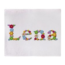 Lena Bright Flowers Throw Blanket