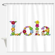 Lola Bright Flowers Shower Curtain
