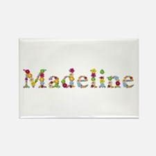 Madeline Bright Flowers Rectangle Magnet