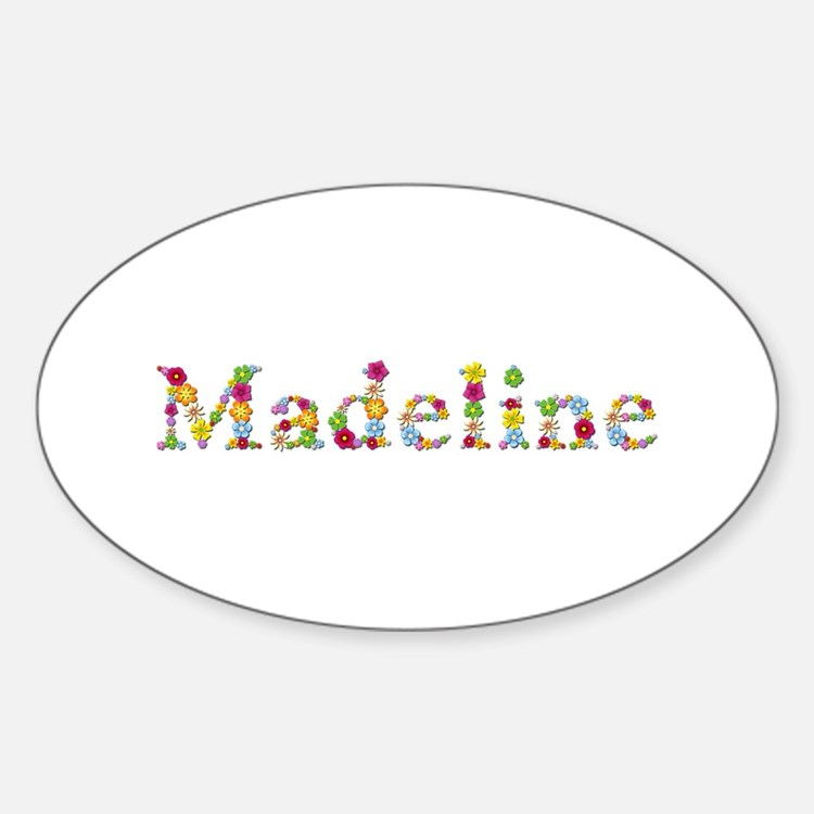 Madeline Bright Flowers Oval Decal
