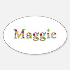 Maggie Bright Flowers Oval Decal