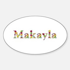 Makayla Bright Flowers Oval Decal