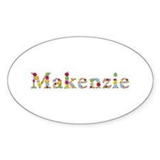 Makenzie Bright Flowers Oval Decal