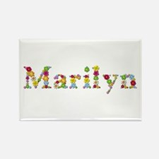 Marilyn Bright Flowers Rectangle Magnet