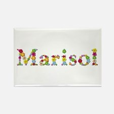 Marisol Bright Flowers Rectangle Magnet
