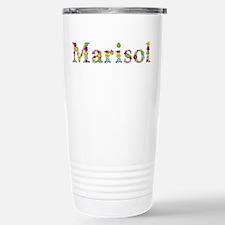 Marisol Bright Flowers Stainless Steel Travel Mug