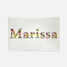 Marissa Bright Flowers Rectangle Magnet