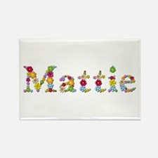 Mattie Bright Flowers Rectangle Magnet