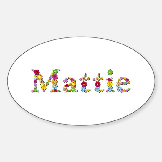 Mattie Bright Flowers Oval Decal