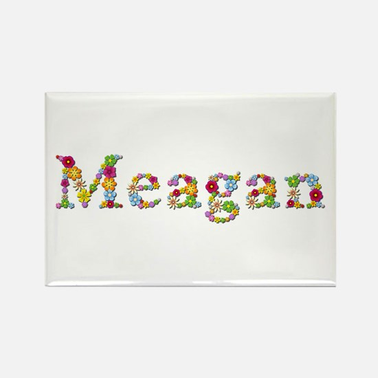 Meagan Bright Flowers Rectangle Magnet