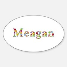 Meagan Bright Flowers Oval Decal