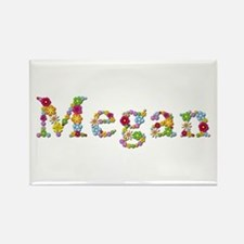Megan Bright Flowers Rectangle Magnet