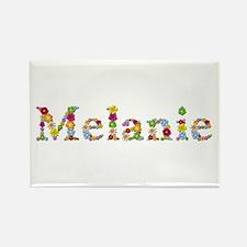 Melanie Bright Flowers Rectangle Magnet