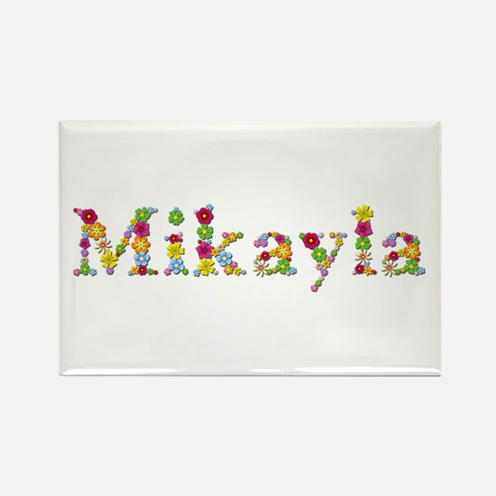 Mikayla Bright Flowers Rectangle Magnet
