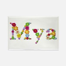 Mya Bright Flowers Rectangle Magnet