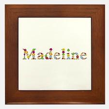 Madeline Bright Flowers Framed Tile