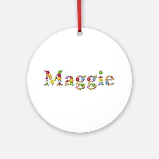 Maggie Bright Flowers Round Ornament