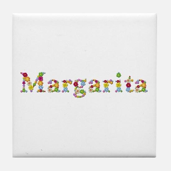 Margarita Bright Flowers Tile Coaster