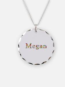 Megan Bright Flowers Necklace