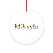 Mikayla Bright Flowers Round Ornament