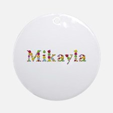 Mikayla Bright Flowers Round Ornament
