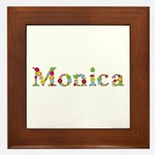 Monica Bright Flowers Framed Tile