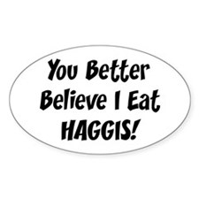 Haggis Oval Decal