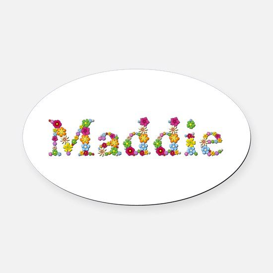 Maddie Bright Flowers Oval Car Magnet