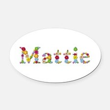 Mattie Bright Flowers Oval Car Magnet