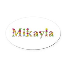 Mikayla Bright Flowers Oval Car Magnet