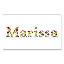Marissa Bright Flowers Rectangle Decal