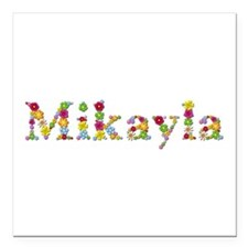 Mikayla Bright Flowers Square Car Magnet