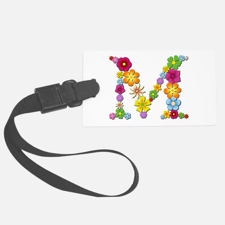 M Bright Flowers Luggage Tag