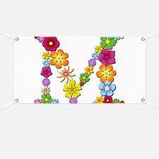 M Bright Flowers Banner
