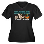 To Fish or Not To Fish??? Women's Plus Size V-Neck