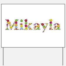 Mikayla Bright Flowers Yard Sign