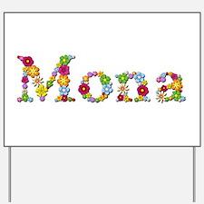 Mona Bright Flowers Yard Sign