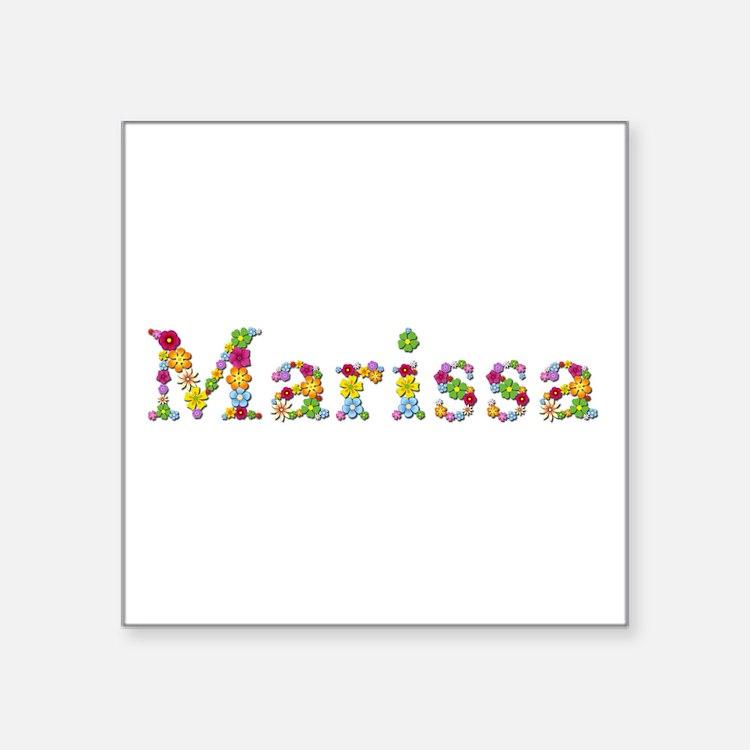 Marissa Bright Flowers Square Sticker