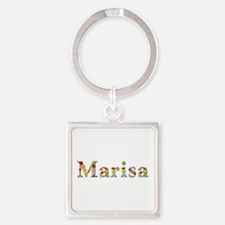 Marisa Bright Flowers Square Keychain