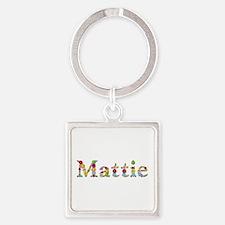 Mattie Bright Flowers Square Keychain
