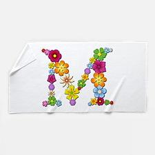 M Bright Flowers Beach Towel