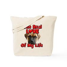 RealLoveOfMyLife BullMastiff Tote Bag