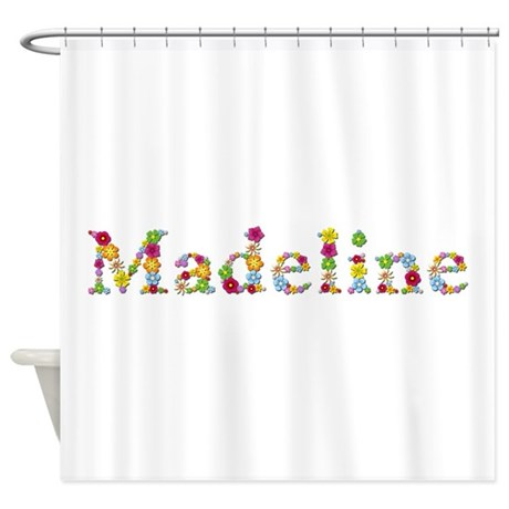 madeline bright flowers shower curtain by namestuff