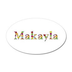 Makayla Bright Flowers 35x21 Oval Wall Decal