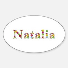 Natalia Bright Flowers Oval Decal