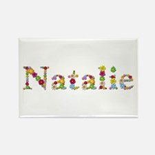 Natalie Bright Flowers Rectangle Magnet
