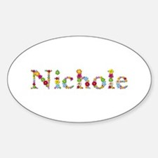 Nichole Bright Flowers Oval Decal