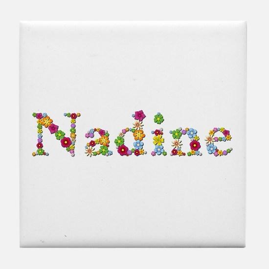 Nadine Bright Flowers Tile Coaster