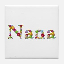 Nana Bright Flowers Tile Coaster