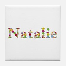 Natalie Bright Flowers Tile Coaster